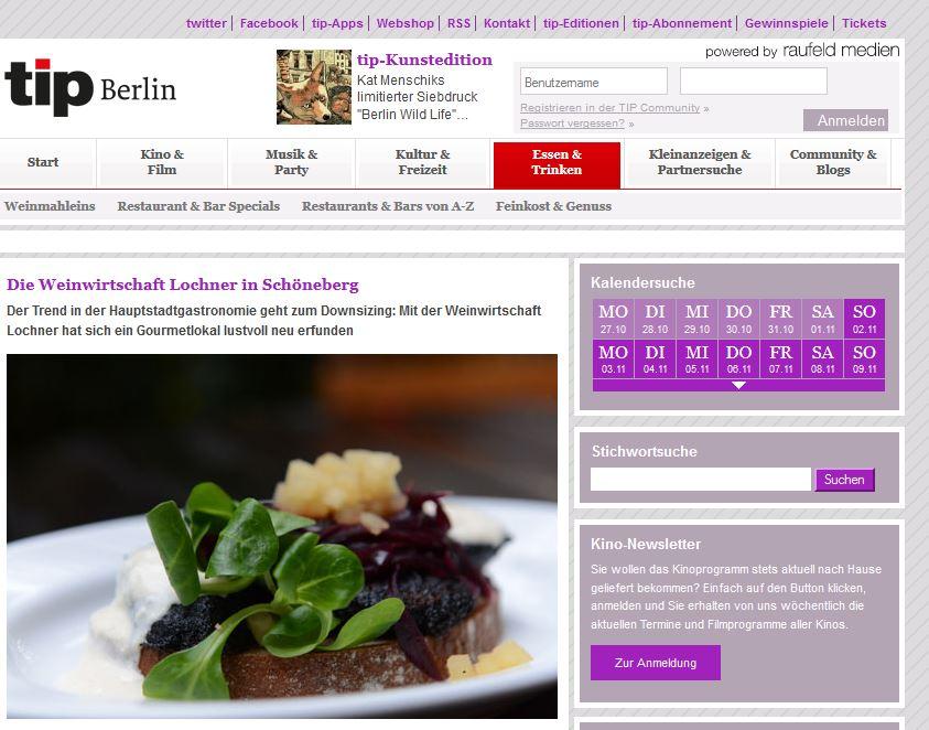 tip berlin: lustvolle Neuerfindung